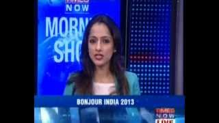 BONJOUR INDIA 2013 - Times Now - Morning Show - 08:55AM