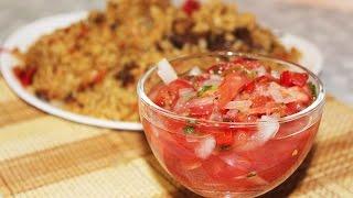 Салат Ачичук. Узбекский салат из помидоров к плову.