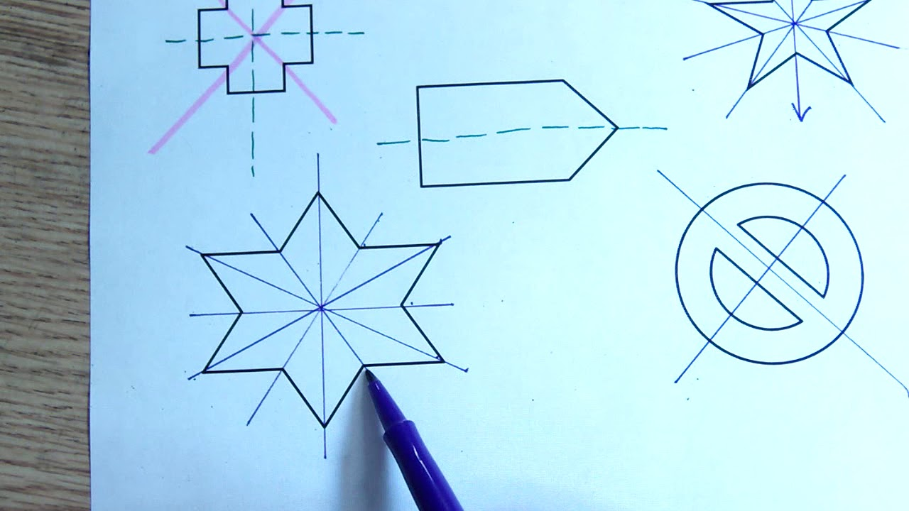 hight resolution of Geometry) Line Symmetry and Rotational Symmetry Lesson - YouTube