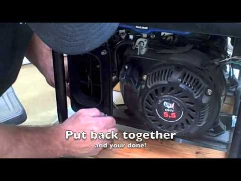 hqdefault how to tune up a ust generator youtube ust 5500 watt generator wiring diagram at webbmarketing.co