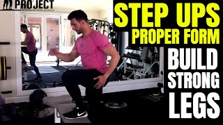 How To Do Step Ups Properly - Great Exercise For Stronger Quads, Hamstrings & Glutes