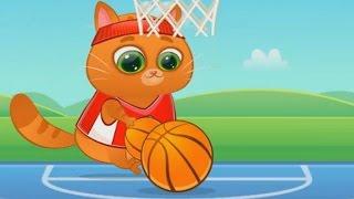 Котик Bubbu #1 игровой мультик для детей Котик играет в мячик My Virtual cat Bob Bubbu