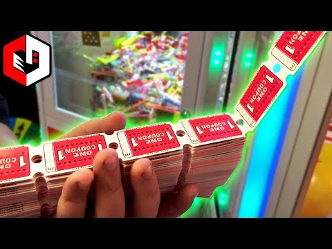 LITERALLY WINNING ALL THE TICKETS! BIG JACKPOT WINS at The Coin Pusher!