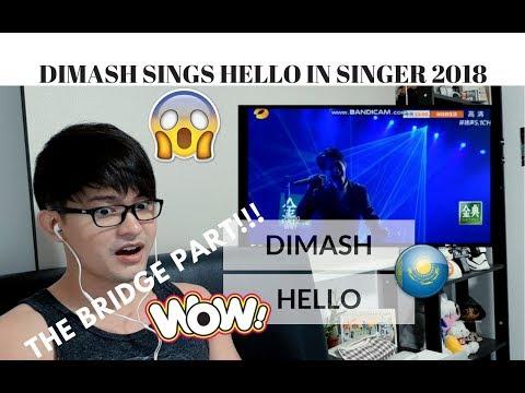 [REACTION] CHILLIN' BRIDGE PART! DIMASH sings HELLO (Lionel Richie)   SINGER 2018   JANGReacts