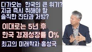 5년 후 한국의 경제성장률은 0%? 더 큰 경제위기 막으려면 즉시 올바른 진단과 처방 해야한다.수축사회 홍성국