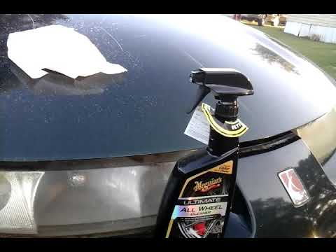 Removing oxidation off headlights with strong wheel cleaner
