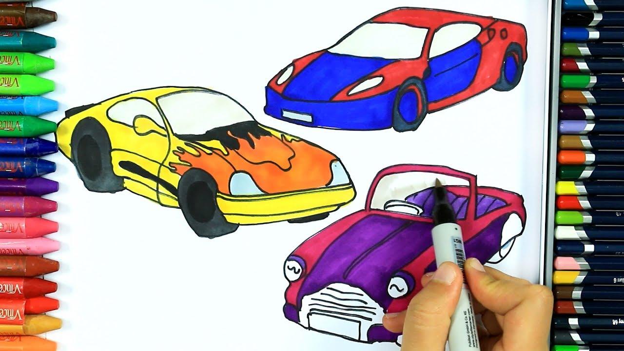 Come Disegnare E Colora Auto Colori Disegno Come Colorare