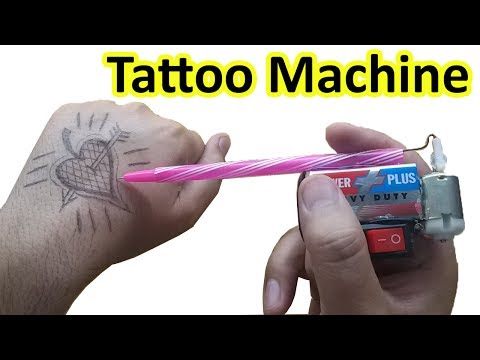 How to make Tattoo Machine at home, tattoo gun, science working models, Made in USA, US