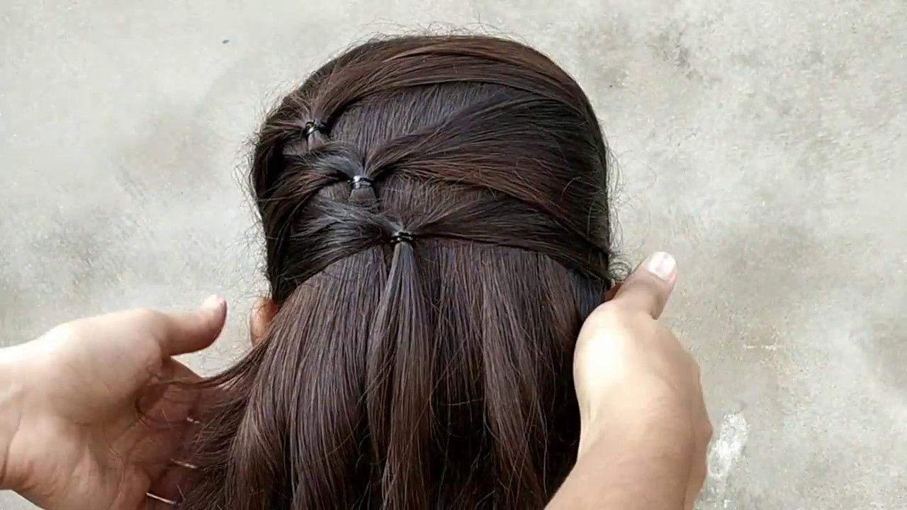 a simple hairstyle for girls || easy & quick hairstyle for long hair || hair style girl