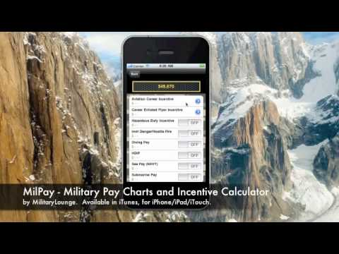 MilPay - Military Pay Charts and Incentive Calculator