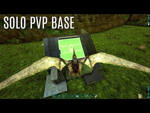 SOLO PVP BASE BUILD w/ Dino Storage - The Center (E4) - ARK Survival Gameplay