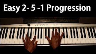 2-5-1 (II-V-I Chord Progression) Easy right hand formula! Mp3