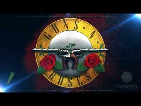 3d Jungle Wallpaper Guns N Roses Logo Animada Em After Effects Youtube