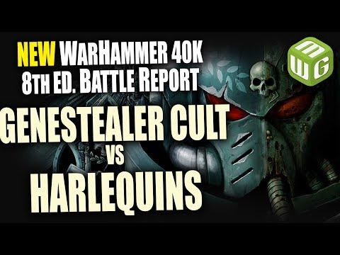 NEW Genestealer Cult vs Harlequins Warhammer 40k 8th Edition Battle Report Ep 21