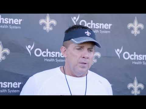 Saints coach Sean Payton talks about upcoming game vs. Eagles