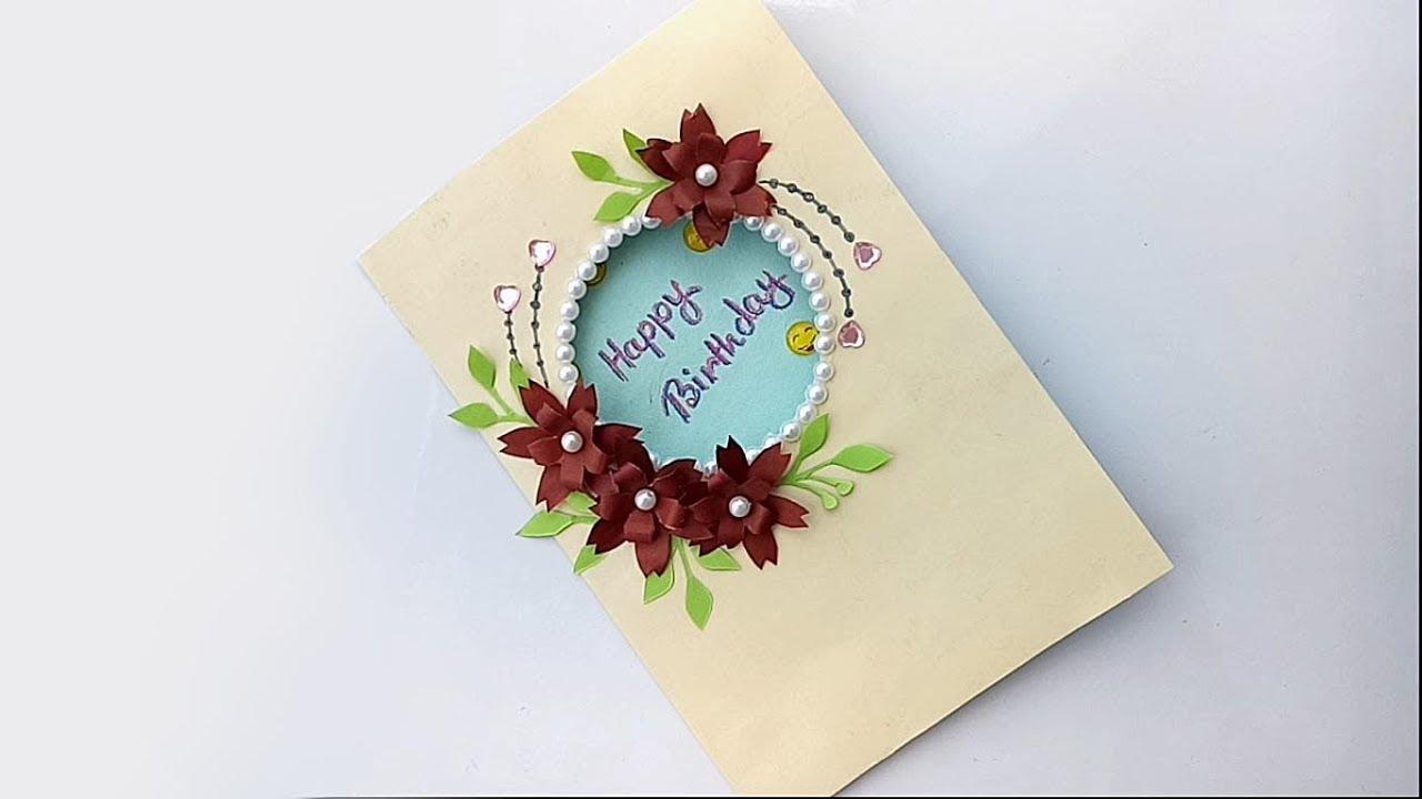 DIY Beautiful Birthday Card Greeting For Farjanas Craft