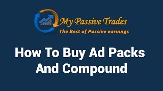 MY PASSIVE TRADES - HOW TO DEPOSIT IN BITCOIN & COMPOUND YOUR ACCOUNT