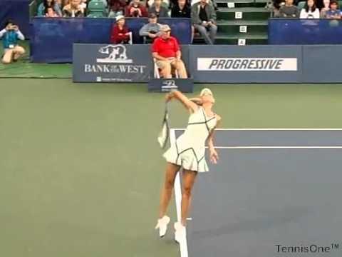 Maria Sharapova Serve Slow Motion Youtube