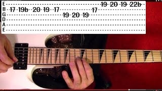 Guitar Lesson - QUIET RIOT - Cum On Feel the Noize - Solo - With Printable Tabs