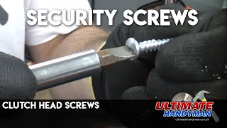 Clutch head screws