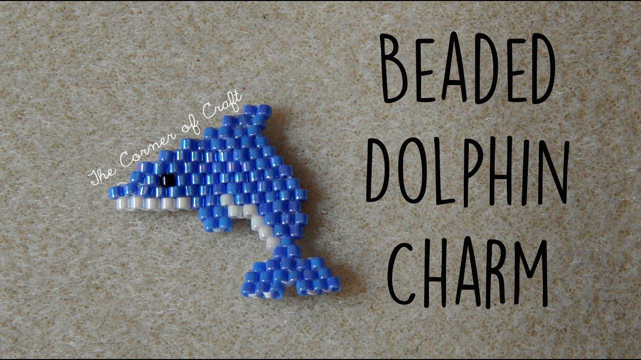 diy seed bead dolphin charm how to bead weaving brick stitch