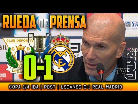 Leganés 0-1 Real Madrid Rueda de prensa post (18/01/2018) | Copa del Rey 1/4 Ida