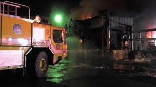 Airport Crash Truck battles structure fire near Allentown, Pennsylvania