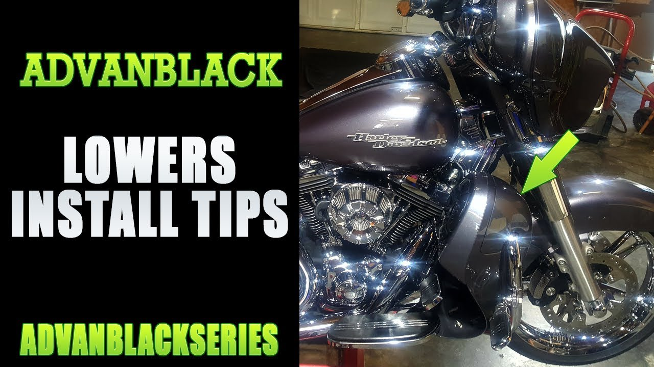 Advanblack Lower Fairing Install Tips For Harley Davidson Youtube Fl Wiring Diagram