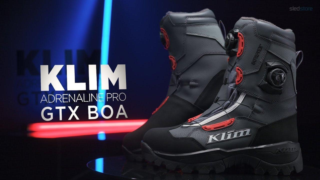 Skoterkängor Klim Adrenaline Pro GTX BOA Röd
