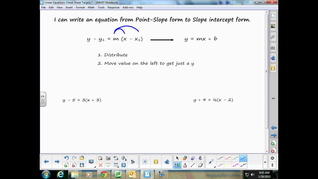 8th Grade Algebra Linear Equations Study Guide Video