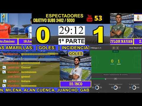 Gol de Isco Malaga vs Real Madrid 0-1 15/04/2018 narrado en la radio