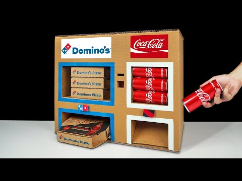 DIY How to Make Dominos Pizza and Coca Cola Vending Machine
