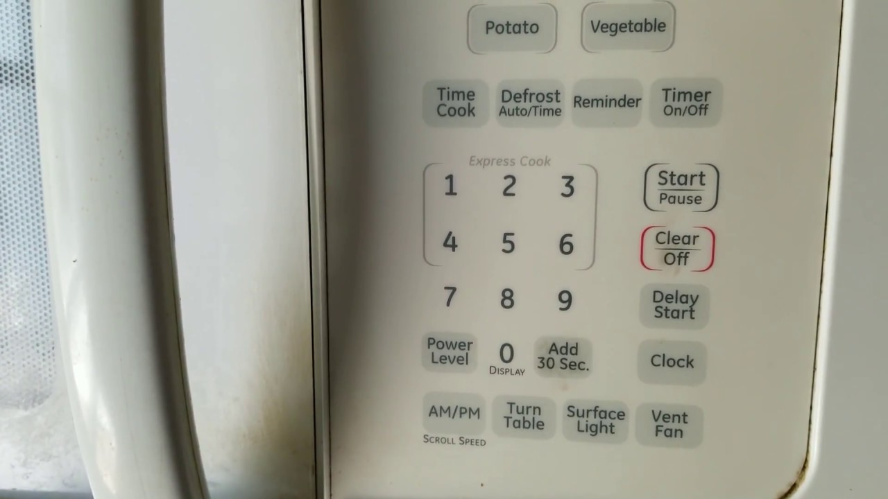 GE microwave range service key pad shorted on