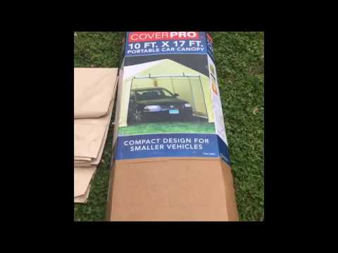 Re-Covering A Harbor freight portable garage - YouTube