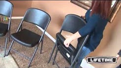 Lifetime 4-Pack Commercial Contoured Folding Chairs Black - KitSuperStore.com
