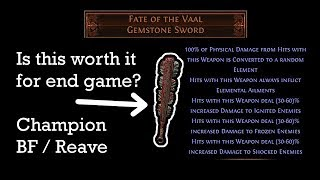Fate of the Vaal sword - Path of Exile (3.3 Incursion)