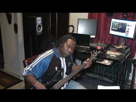 UNOMANSO on the bass guitar, (Baltimore Youtuber, Maryland Youtuber