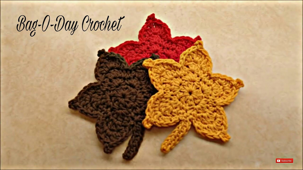 CROCHET How To #Crochet Easy Fall Autumn Leaf TUTORIAL #344 LEARN ...