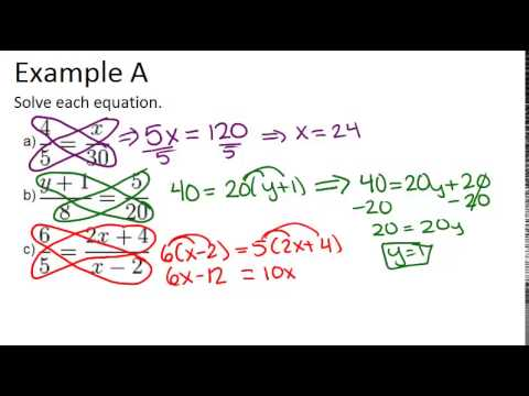 Proportion Properties Examples - Video from CK-12 - Kiddom Standards ...
