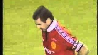 Amazing Goal by Eric Cantona at Munich Air Disaster Memorial Match in 1998