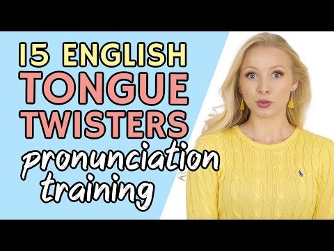 Can YOU say these 15 English Tongue Twisters for Speaking & Pronunciation Training?