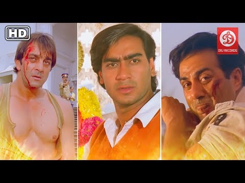 Top Fight Scenes - Ajay Devgan, Sunny Deol & Sanjay Dutt - Back To Back Action Blockbuster Movies !!