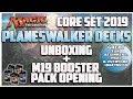 Core Set 2019 PLANESWALKER DECKS - Unboxing - M19 Booster Pack Opening - MTG