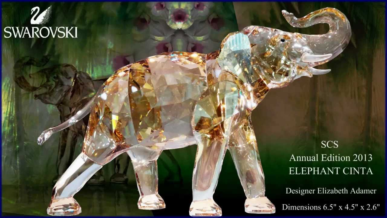 SWAROVSKI SCS ANNUAL EDITION 2013 ELEPHANT CINTA At CRYSTAL PALACE