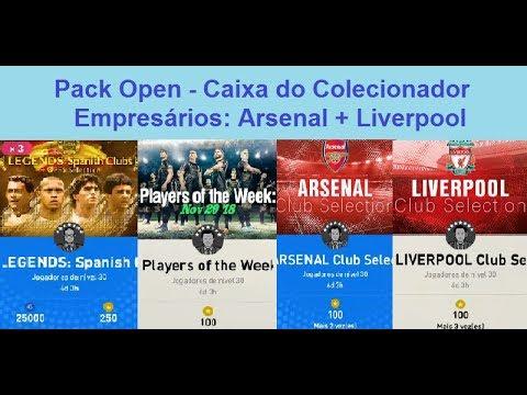 Pes2019 MyClub - Open Packs: Caixa do Colecionador - Empresários Arsenal e Liverpool - Estressado!!