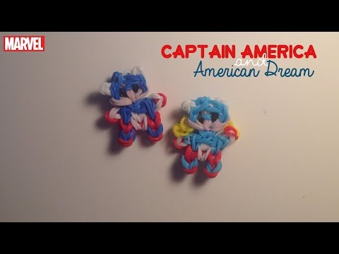 Rainbow Loom Captain America/American Dream | Marvel [Tidbits Series]