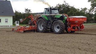 Gerste drillen | Deutz Agrotron x720 & Deutz Agrotron TTV 630