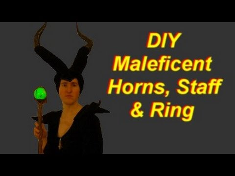 Maleficent Costume Diy Horns Staff Ring