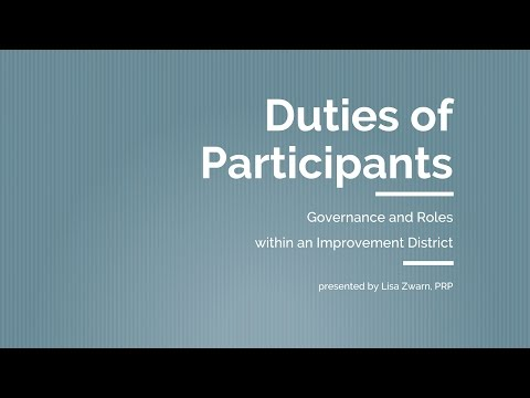 Coastal Water Suppliers Association: Duties of Participants