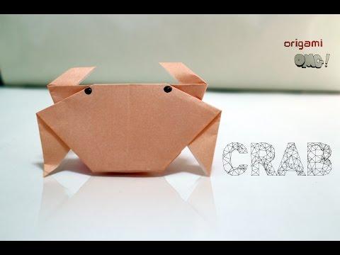 """วิธีพับกระดาษ ง่ายๆ - พับ """"ปู"""" เข้าใจง่าย   Easy but cool Origami tutorial - """"CRAB"""" Step-by-Step"""